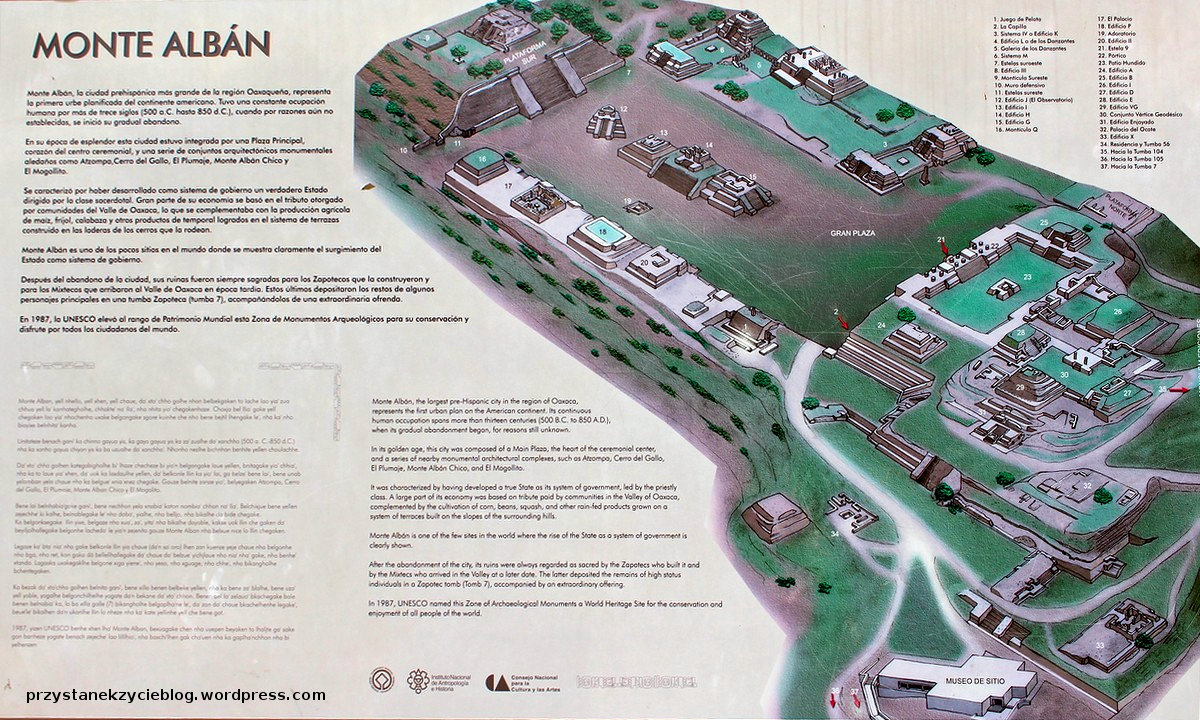 monte alban_meksyk_mapa strefy