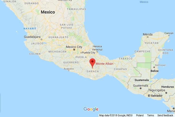 monte alban_meksyk_mapa